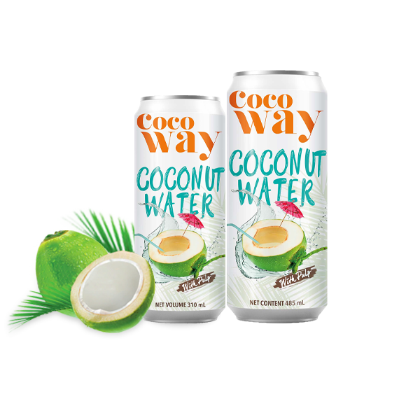 Cocoway Coconut water with pulp and Cocoway Roasted Coconut water with pulp